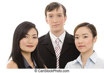 1, jeune, equipe affaires