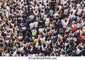 1 July 2014 protest - HONG KONG - JULY 1: Hong Kong people...