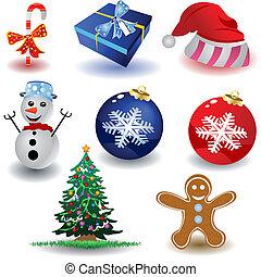 1, kerstmis, iconen