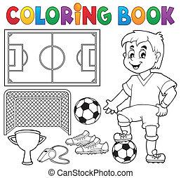 1, kleuren, thema, voetbal, boek