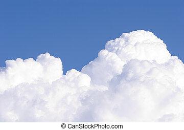 1, kumulus, #, wolkenhimmel