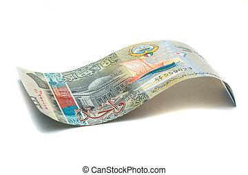1, kuwaitier, dinar, bank, note.