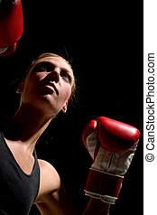 1, kvinna, boxare