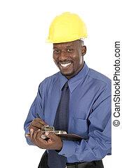 1, lächeln glücklich, architekt, ingenieur
