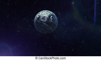 1, la terre, voyage, espace