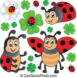 1, ladybug, imagem, tema
