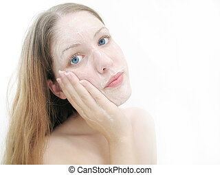 1, lavando rosto
