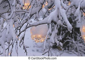 1, lichten, kerstmis