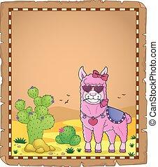 1, liefde, perkament, llama, bril