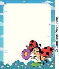 1, lieveheersbeest, thema, frame