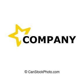 1, logo, conception, étoile