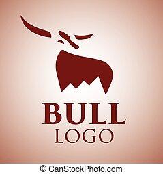 1, logotipo, touro