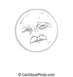 #1, lua, rosto