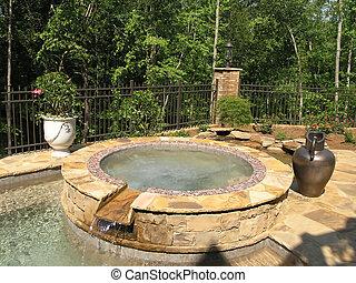 1, -, luxe, piscine