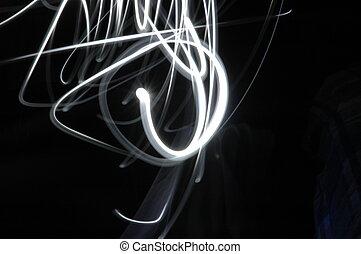 1, lys slør