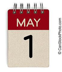 1, mai, calendrier