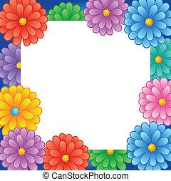 1, marco, flor, tema