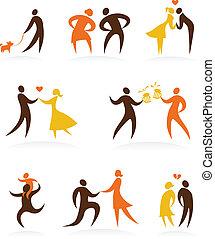 1, -, mariage, icônes