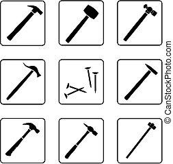 1, marteaux