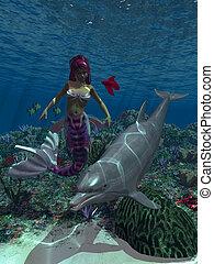 1, mermaid