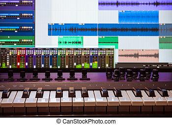 1, midi, daw, klaviatur
