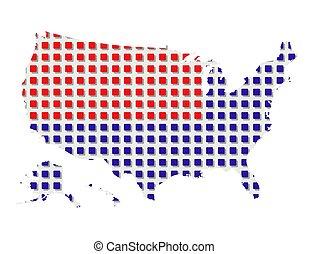 1, mondo, america, mappa