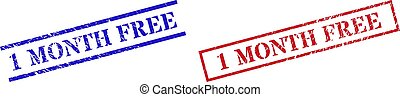 1 MONTH FREE Grunge Scratched Stamp Watermarks with Rectangle Frame