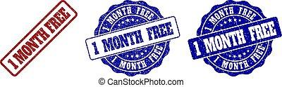 1 MONTH FREE Grunge Stamp Seals