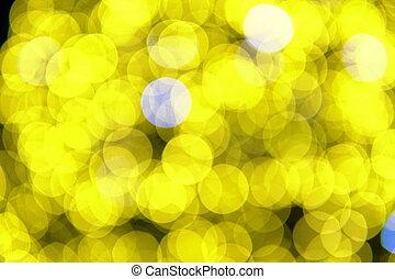 1, multicolore, q, lumières, bokeh, w, noël