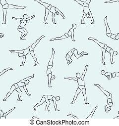 1, muster, akrobat