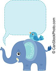 1, námět, copyspace, slon