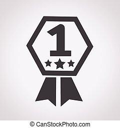 1, número, ícone