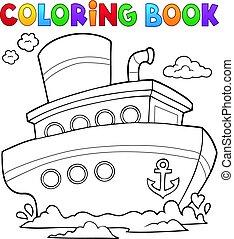 1, navio, tinja livro, náutico