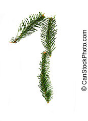1 - number symbol from christmas alphabet