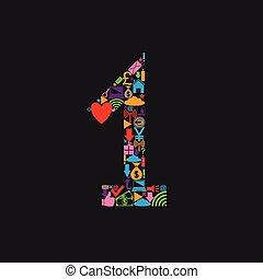 1, numero