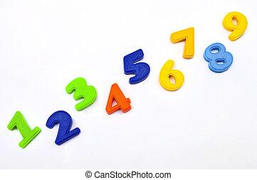 1, numrerar