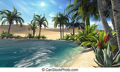 1, oase, woestijn