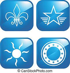 1, ontwerp, iconen