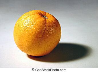 Isolated orange close-up.