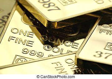 gold ingots - 1 ounce gold ingots