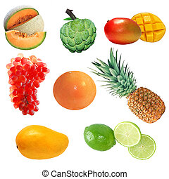 1, owoc, komplet