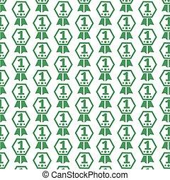 1, padrão, número, fundo, ícone