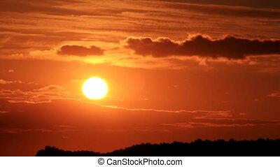 1), (part, coucher soleil, rouges