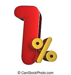 1 percent 3D.