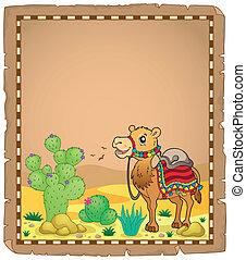 1, perkament, kameel