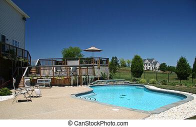 1, piscina traspatio