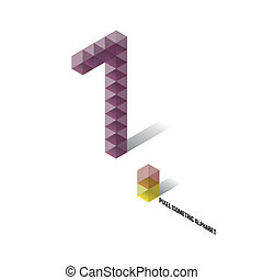 1 - Pixel Isometric Alphabet - Numbers