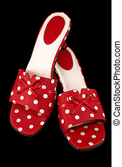 1, polka-point, chaussures