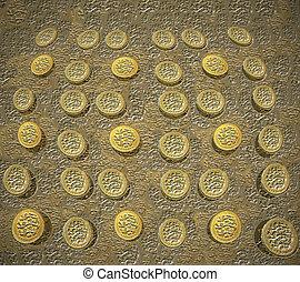 1 pound coin background v1