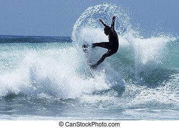 1, proiettato, surfer